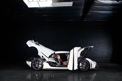 White and Black Sports Car