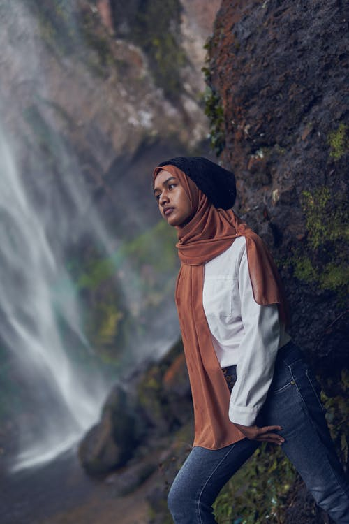 Free stock photo of girl waterfall, indonesia, indonesian