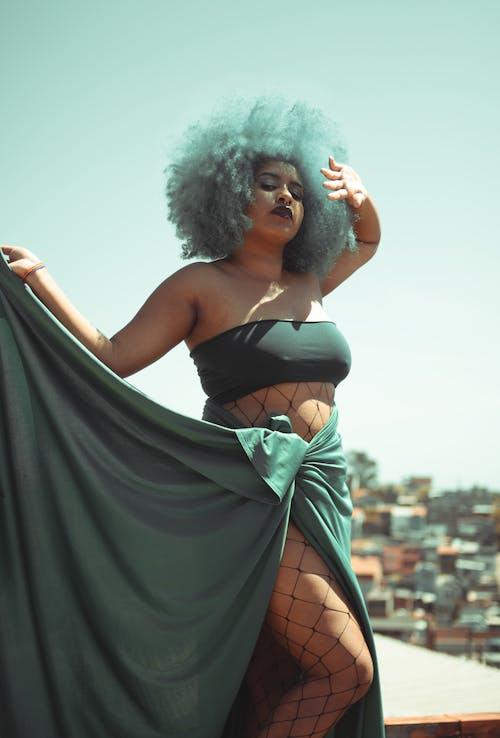アフロ, タンクトップ, ファッションの無料の写真素材