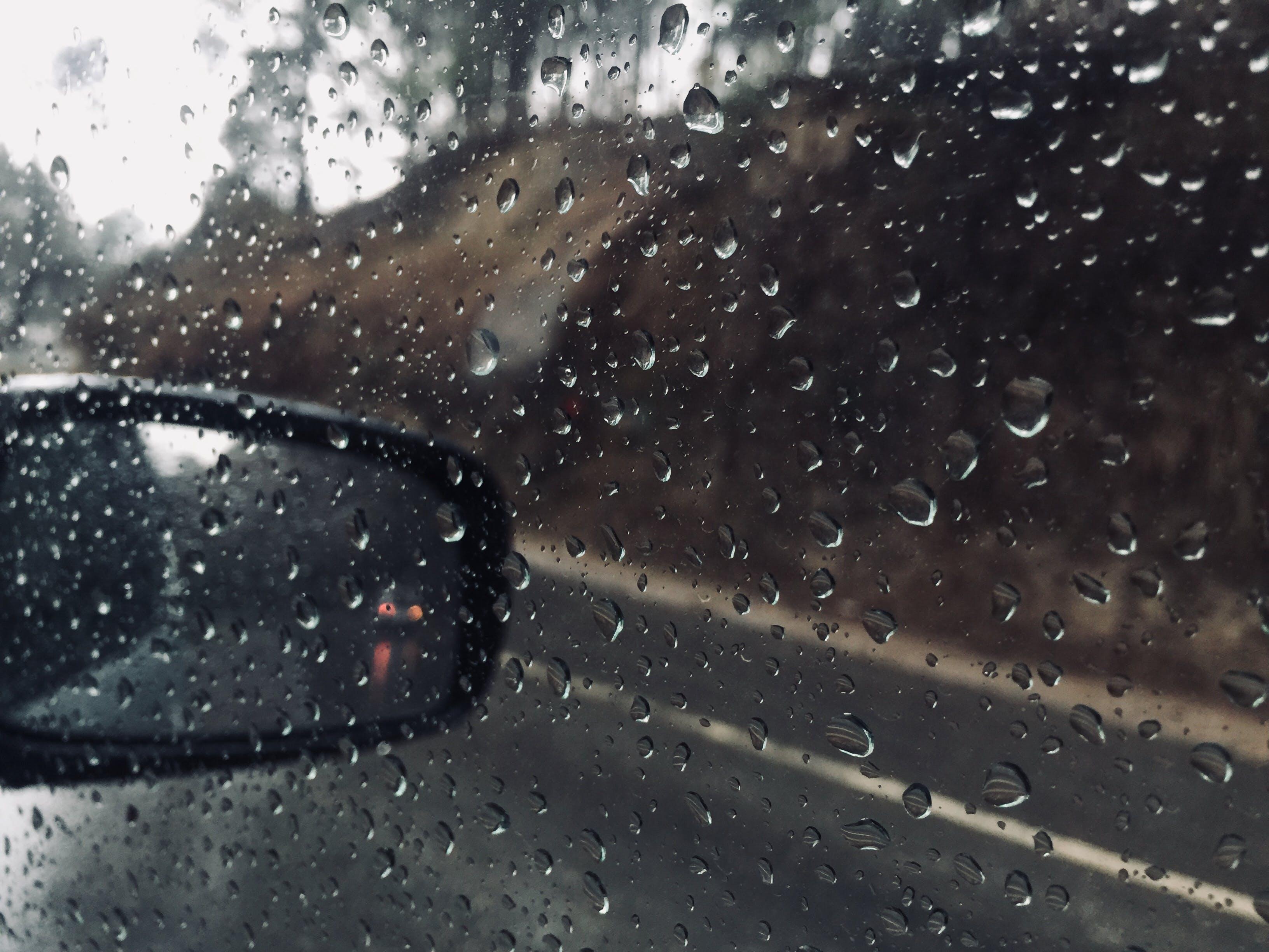 Free stock photo of Rainy day hill