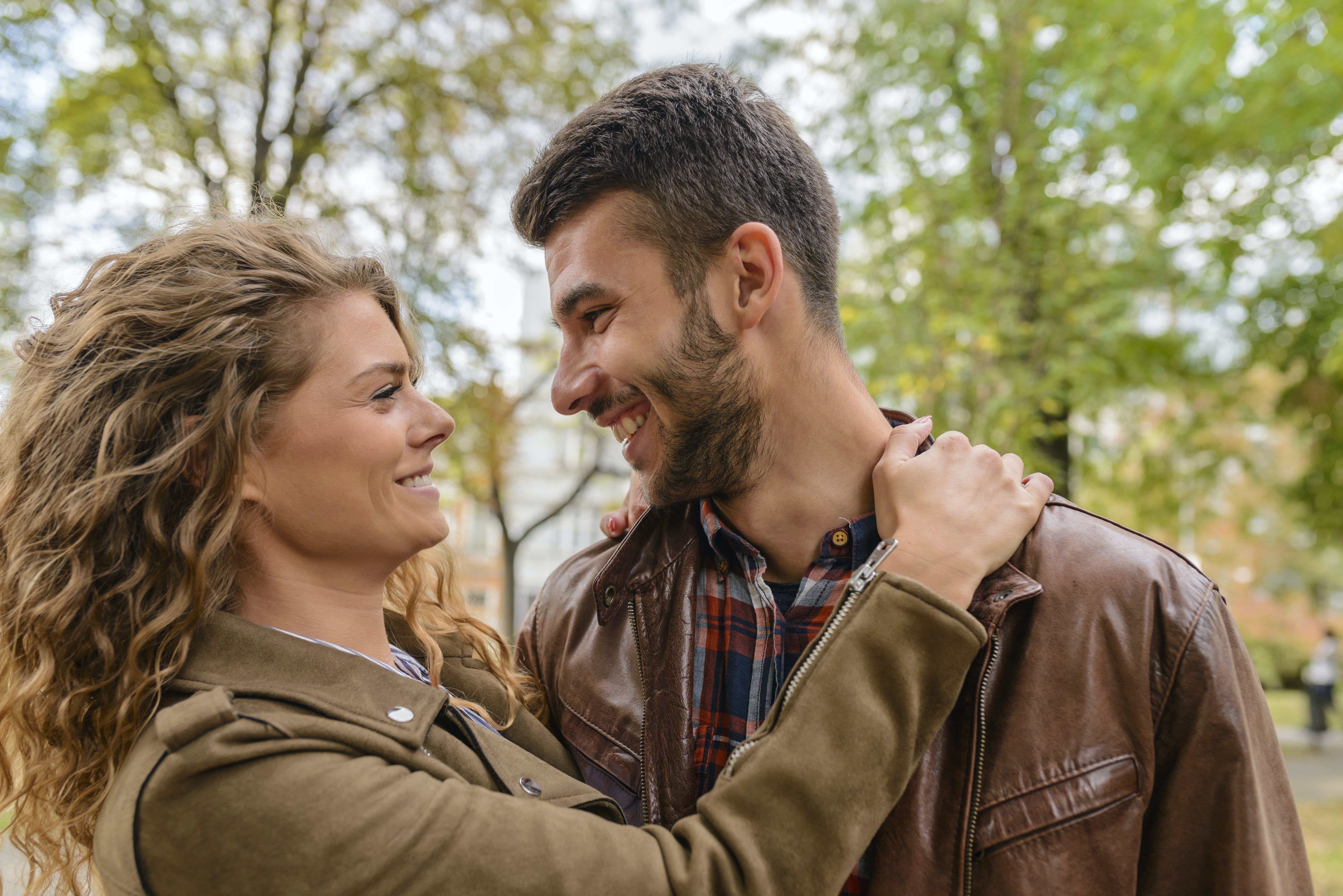 Photography of a Couple Smiling
