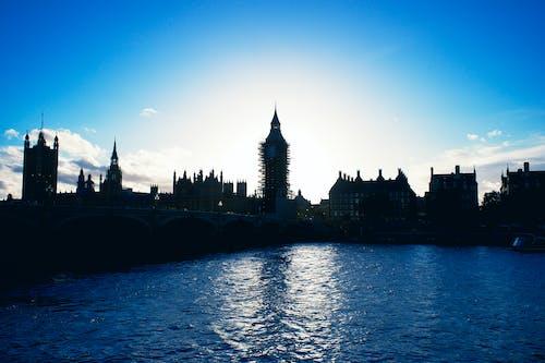 Free stock photo of big ben, london, river thames
