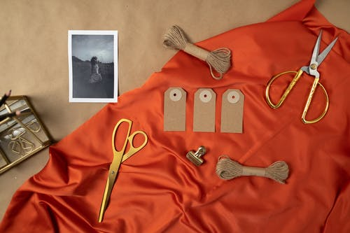 A Flat Lay of Tailoring Equipment