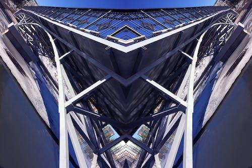 Free stock photo of bridge, metal, mirror