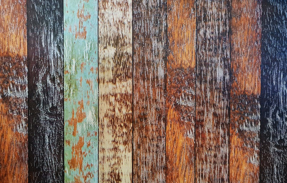 Assorted colored wooden planks