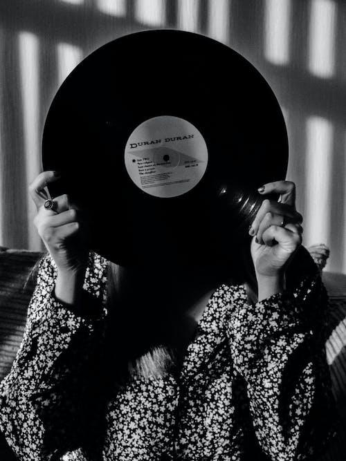Free stock photo of black and white, shadows, vinyl