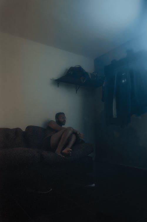 Free stock photo of black man, loneliness, smoke