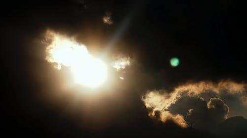 Kostnadsfri bild av molnig himmel, Mörk himmel, solstråle