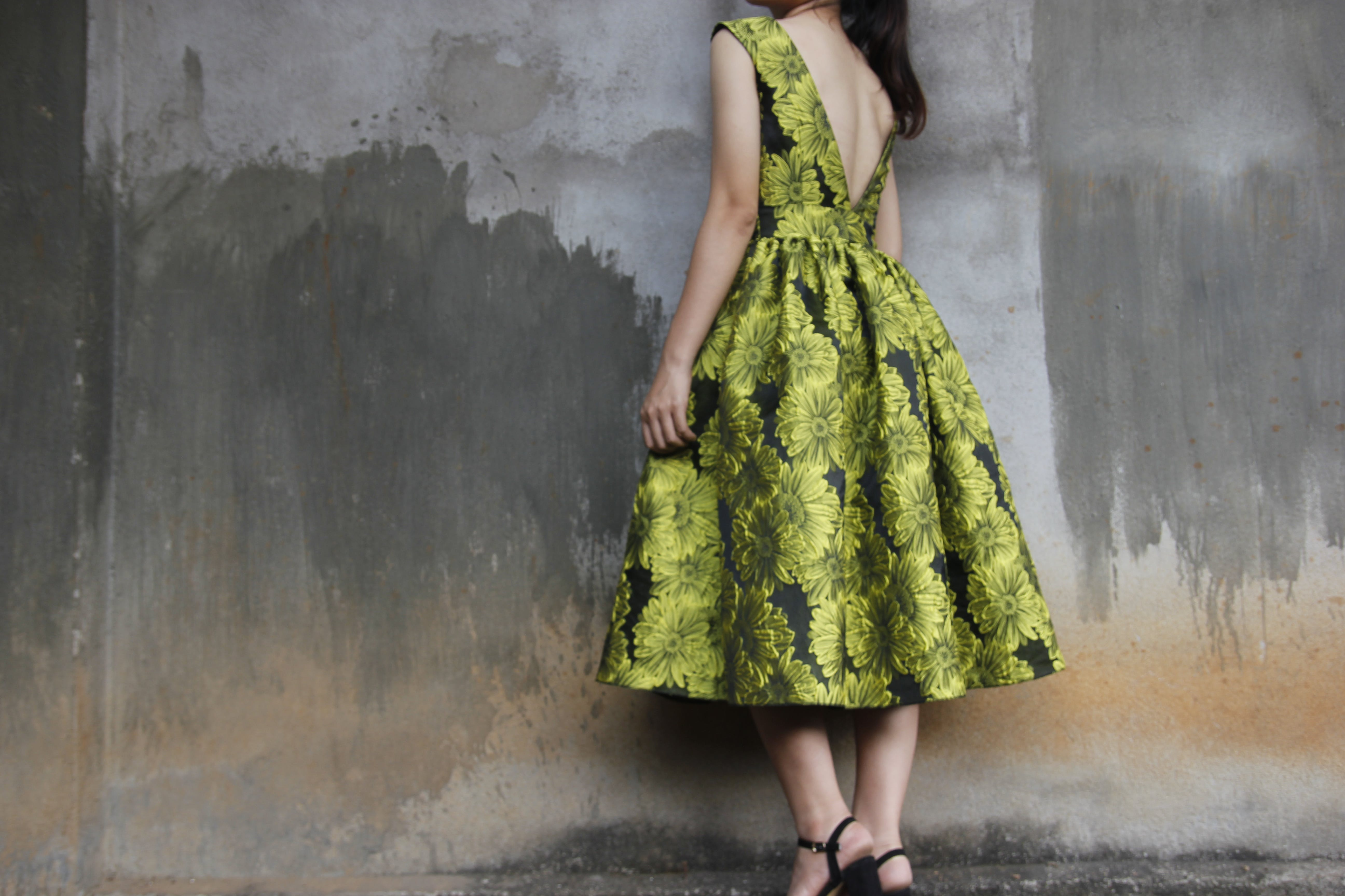 Photography of a Woman Wearing Green Dress