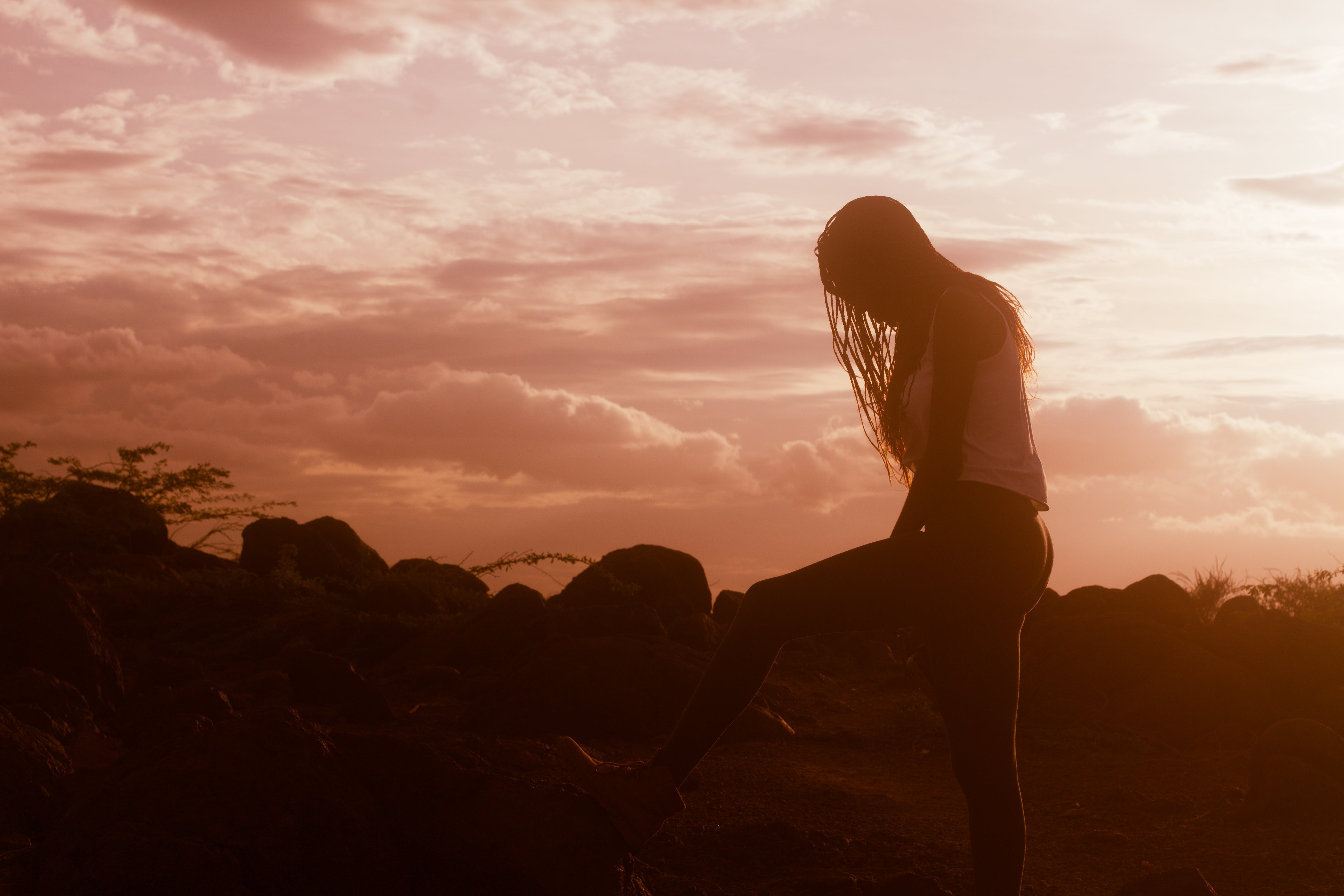Free stock photo of african girl, dust, hill, Kenya