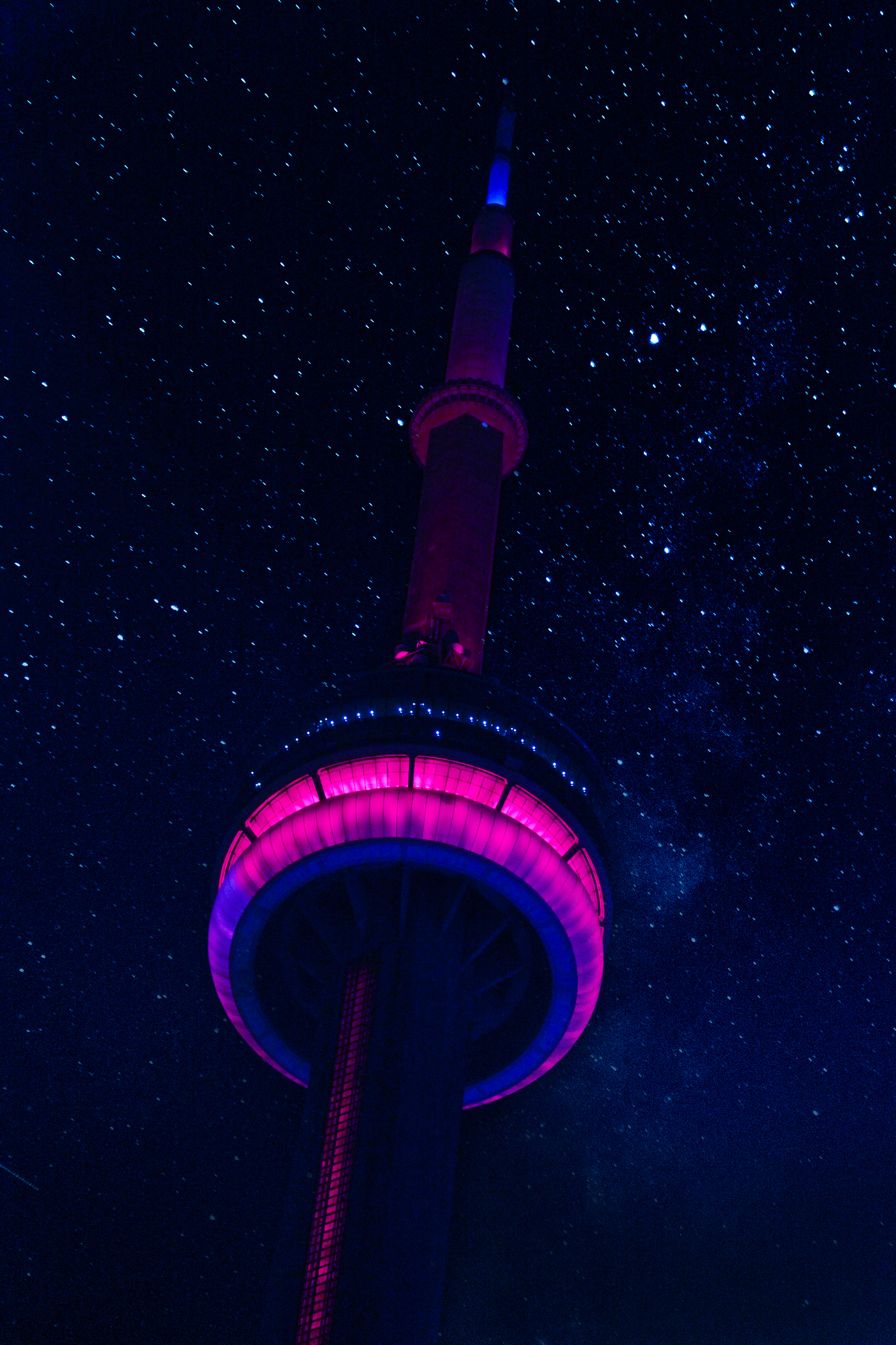 Low-angle Photo of Lighted Tower during Night