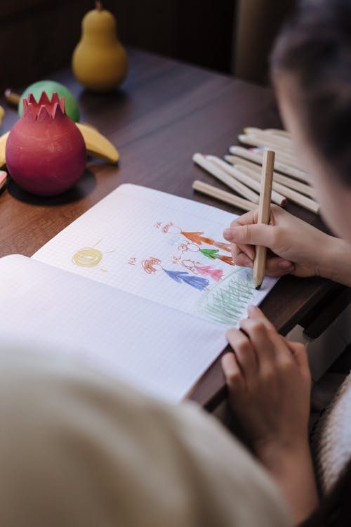 Child Making Family Drawing