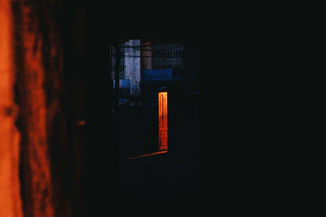 Open Brown Wooden Door