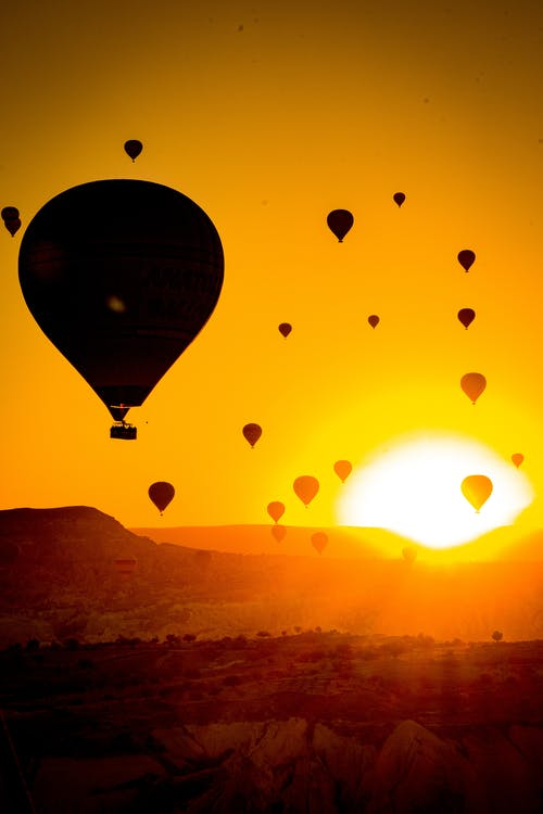 Free stock photo of adventure, backlit, balloon