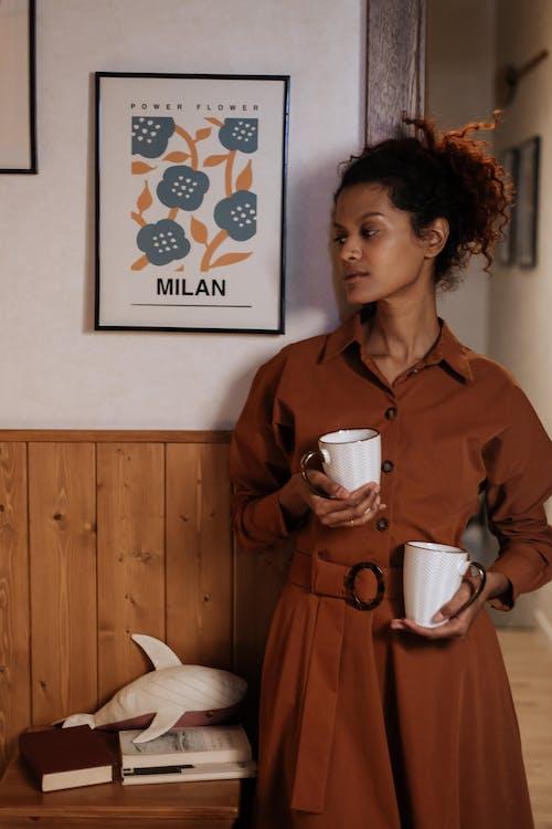 アダルト, インテリア, コーヒーカップの無料の写真素材