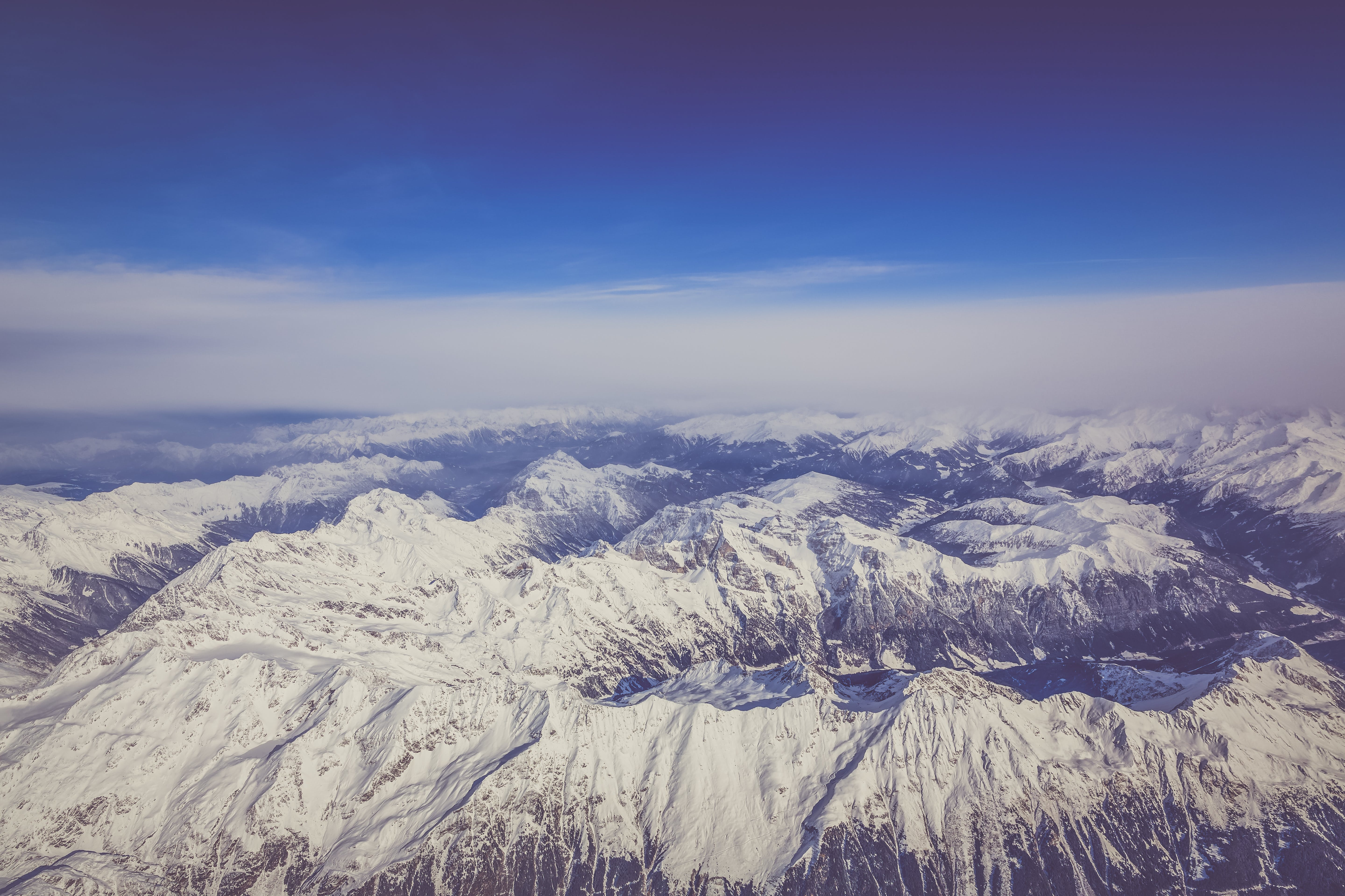 Aerial Photography Of White Mountains