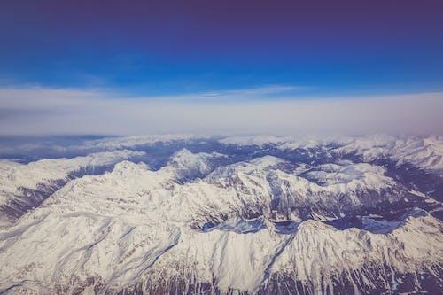 Fotos de stock gratuitas de Alpes, cielo, cordillera, desde arriba