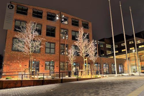Ingyenes stockfotó ablakok, belváros, éjszaka, építészet témában