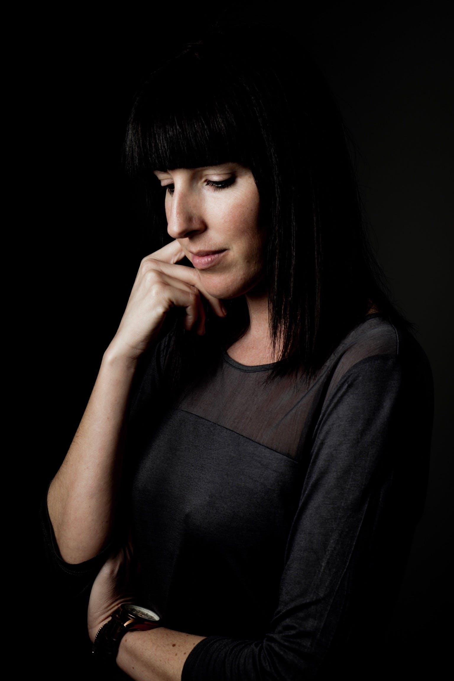 Free stock photo of beauty shooting, black background, canon, dark hair