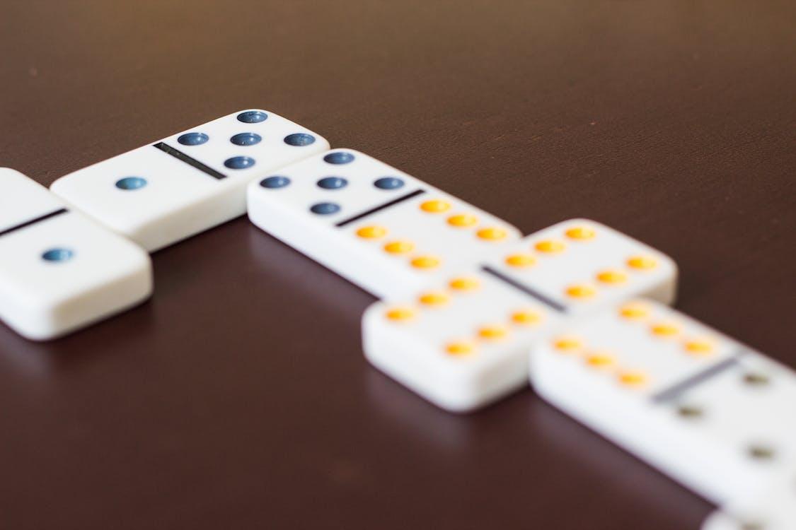 dominó, játék, jogo