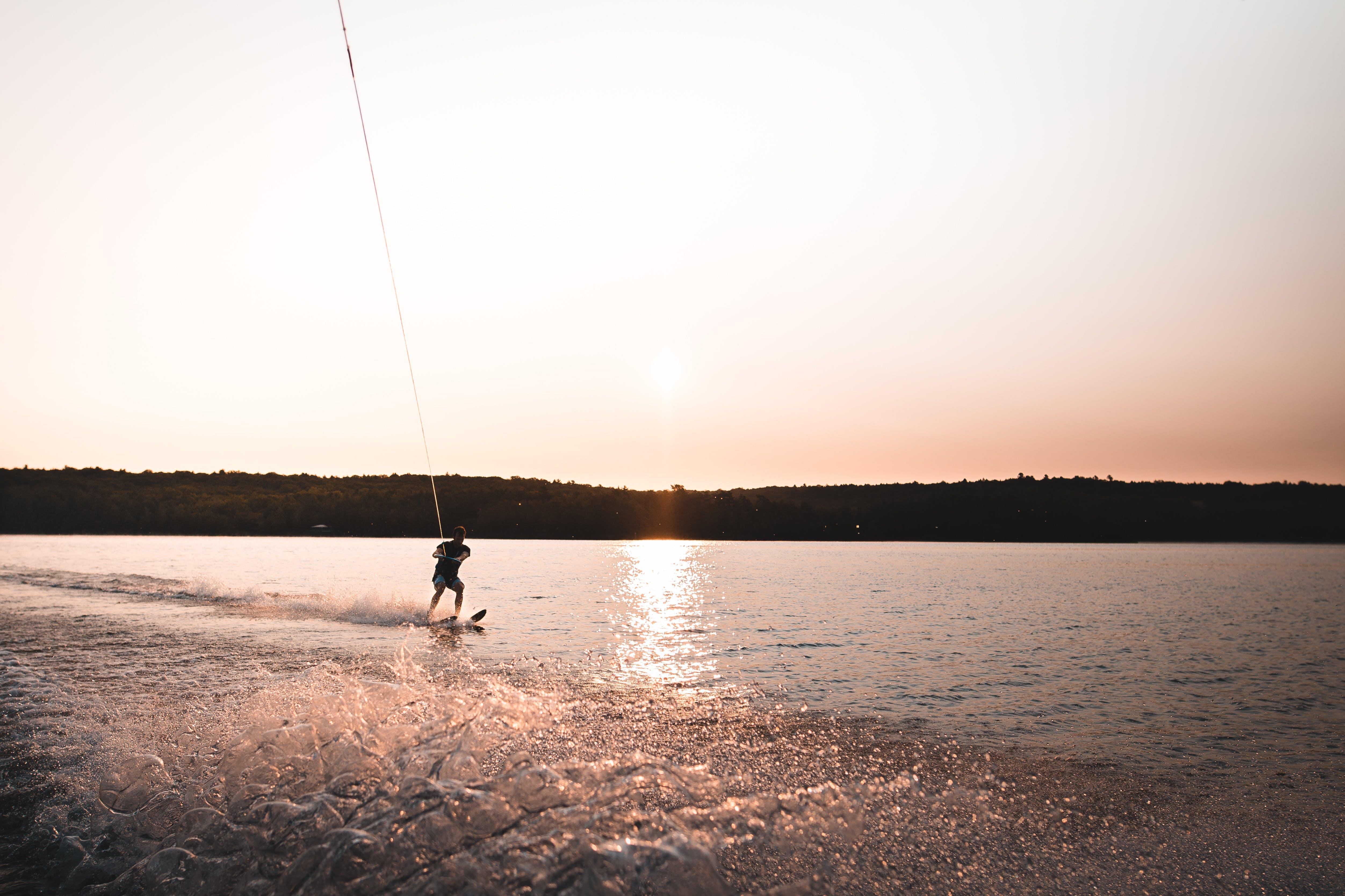 Free stock photo of water, boat, lake, waterski