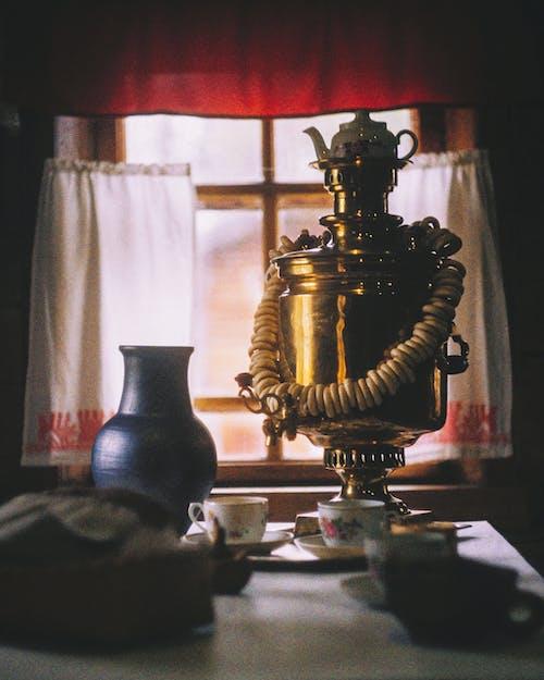 Turkish Tea Set on Table
