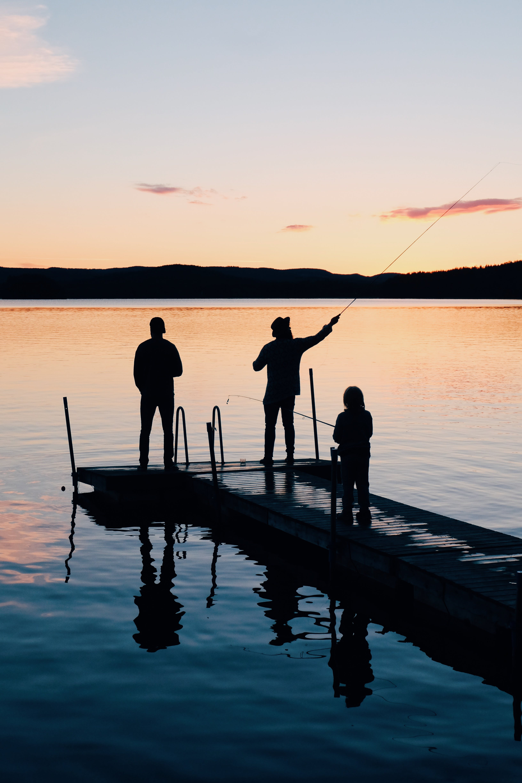 Kostenloses Stock Foto zu abend, angeln, dämmerung, erholung
