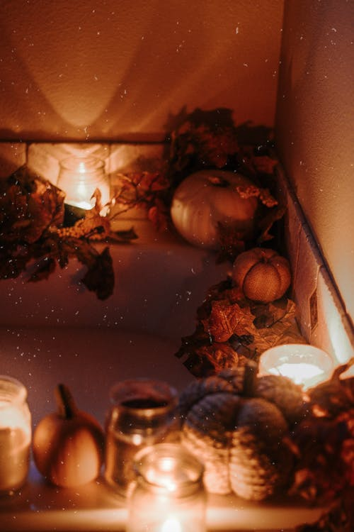 Bathtub Illuminated by Candles