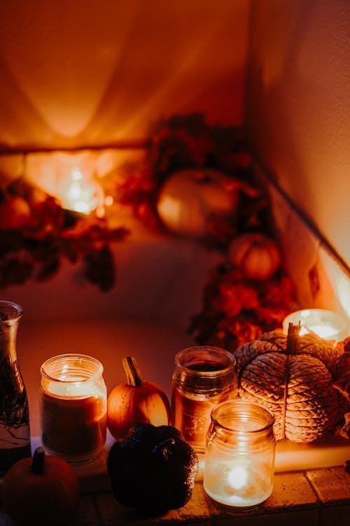 Candles Illuminating Bathtub