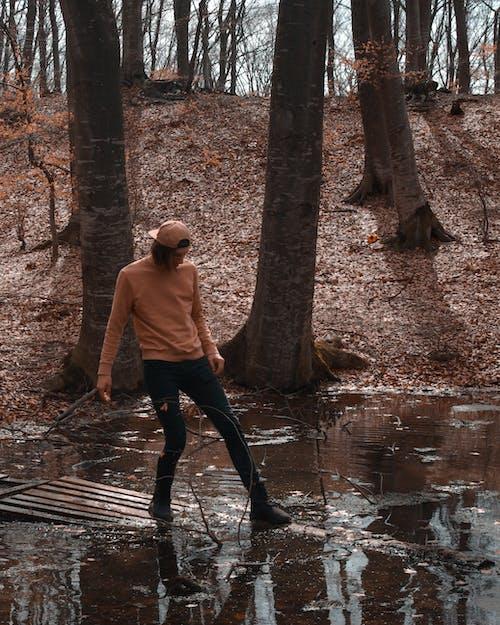 คลังภาพถ่ายฟรี ของ ชาย, ต้นไม้, น้ำ, ปาร์ค
