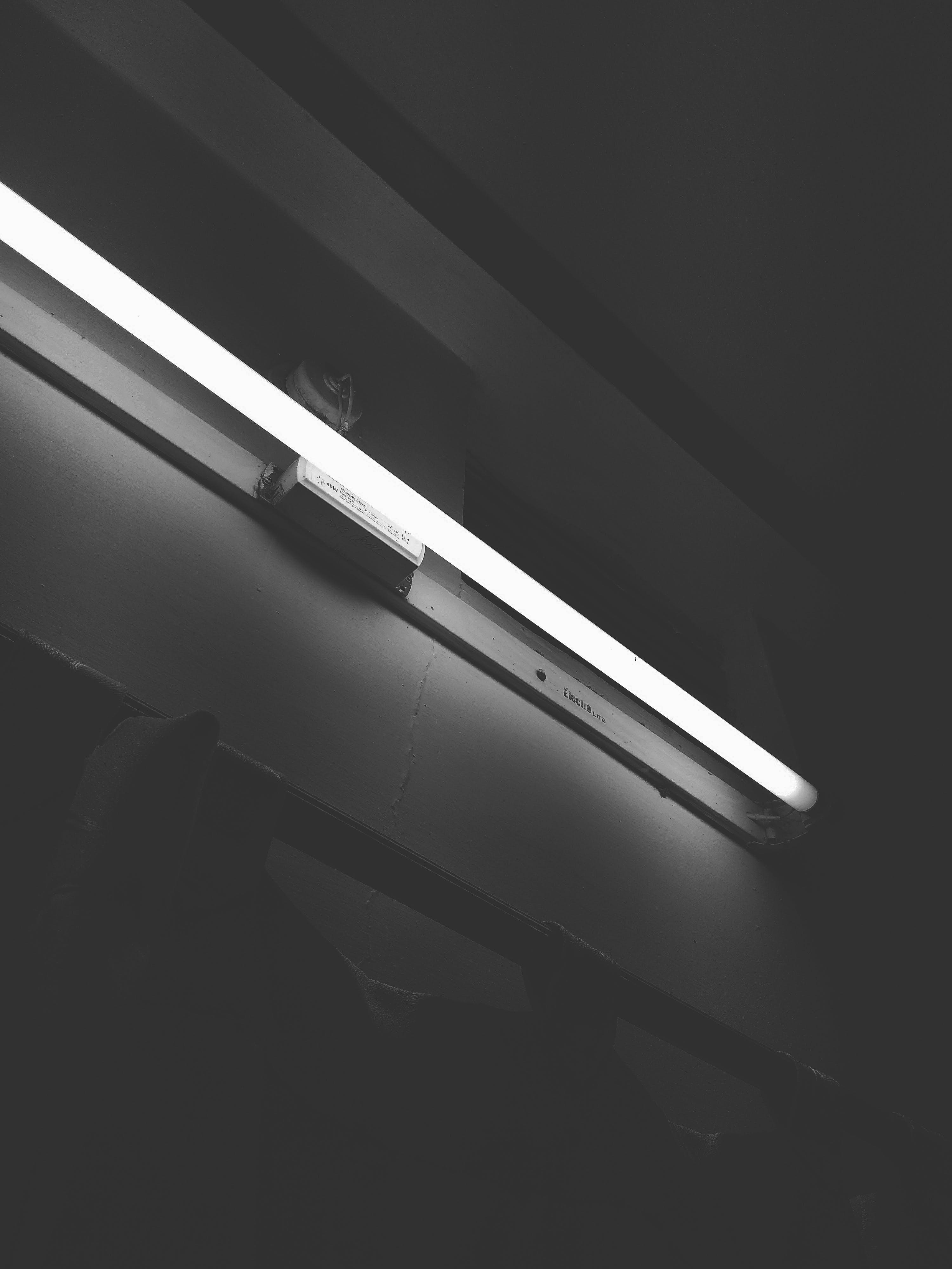 Turned on Fluorescent Tube