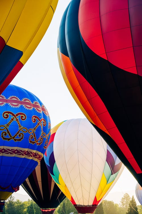 Few Colorful Balloons Ready to Go in the Air