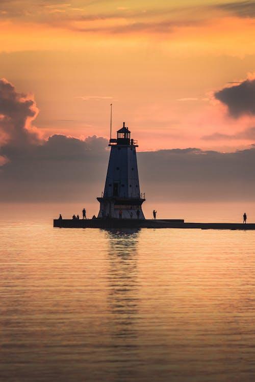 地平線, 地平线过水, 多色的 的 免费素材图片