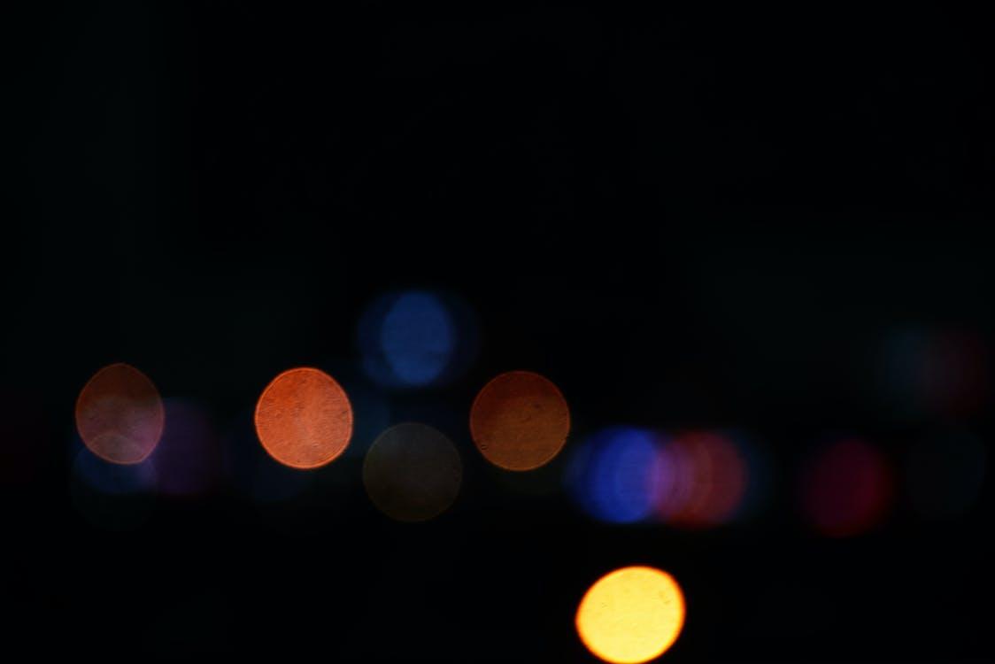 életlen, fény, fények