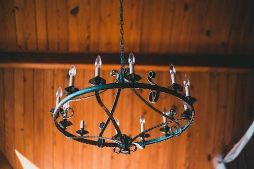 Chandelier in Wooden Cabin