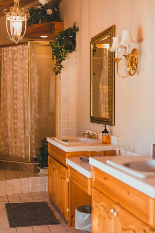 A Shot of Sink andShower Cabin