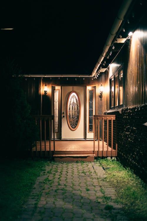 A Way to Lighten up Doors During Night Time