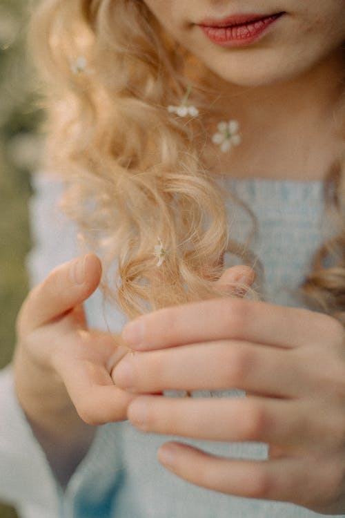 Photography of Blonde Woman Hands