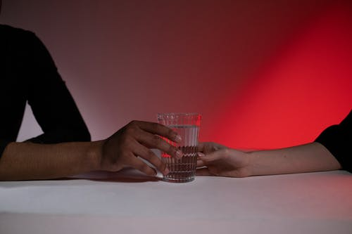 Free stock photo of glass of water, hands, indoors