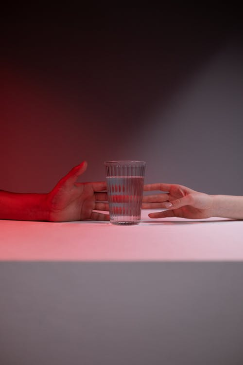 Free stock photo of copyspace, glass of water, hands