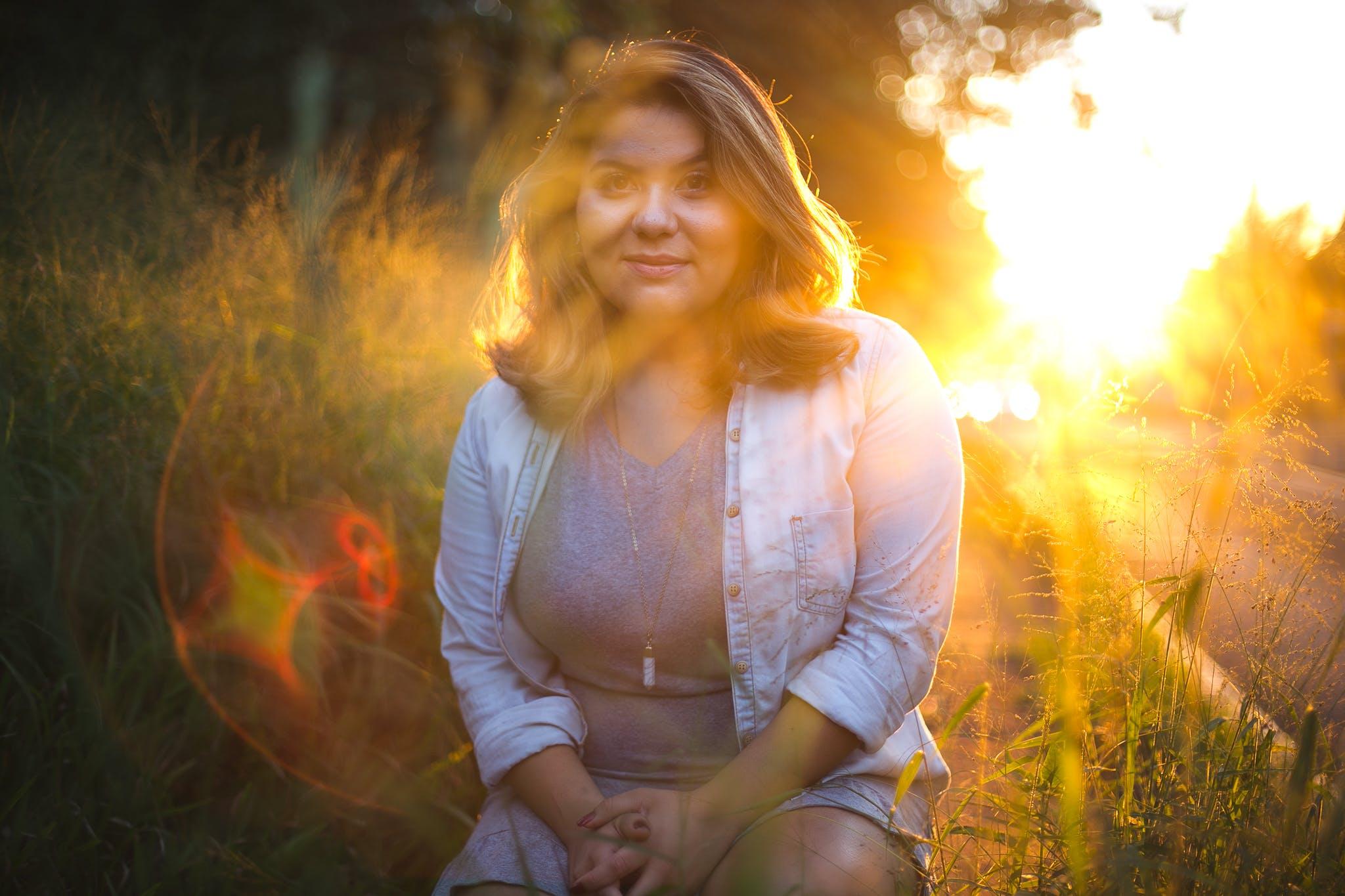 Free stock photo of brazilian woman, female, girl, golden sunset
