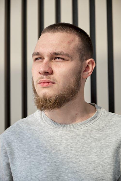 Darmowe zdjęcie z galerii z brązowe włosy, broda, codzienne ubrania
