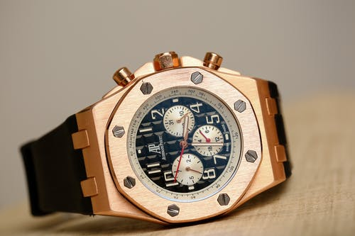 A Gold Chronograph Watch