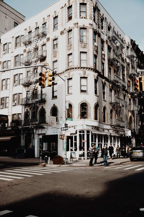 Old Building at Intersection in Manhattan, New York, USA
