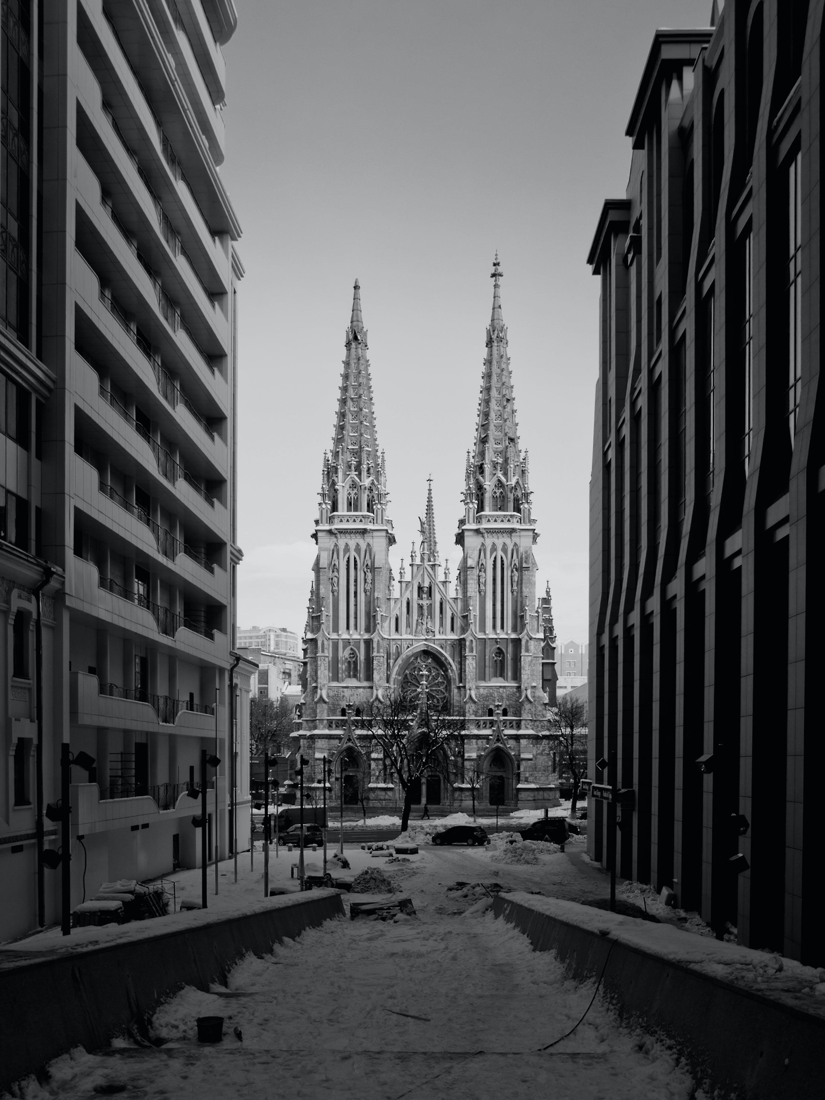거리, 건물, 건축, 겨울의 무료 스톡 사진