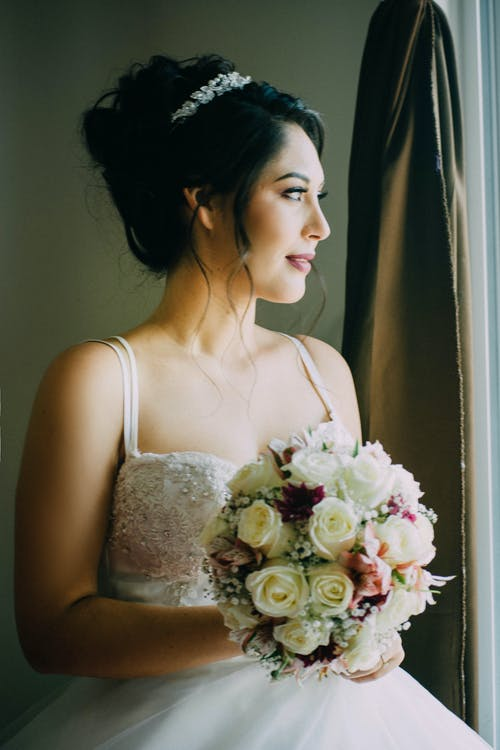 Free stock photo of adult, boda, bouquet