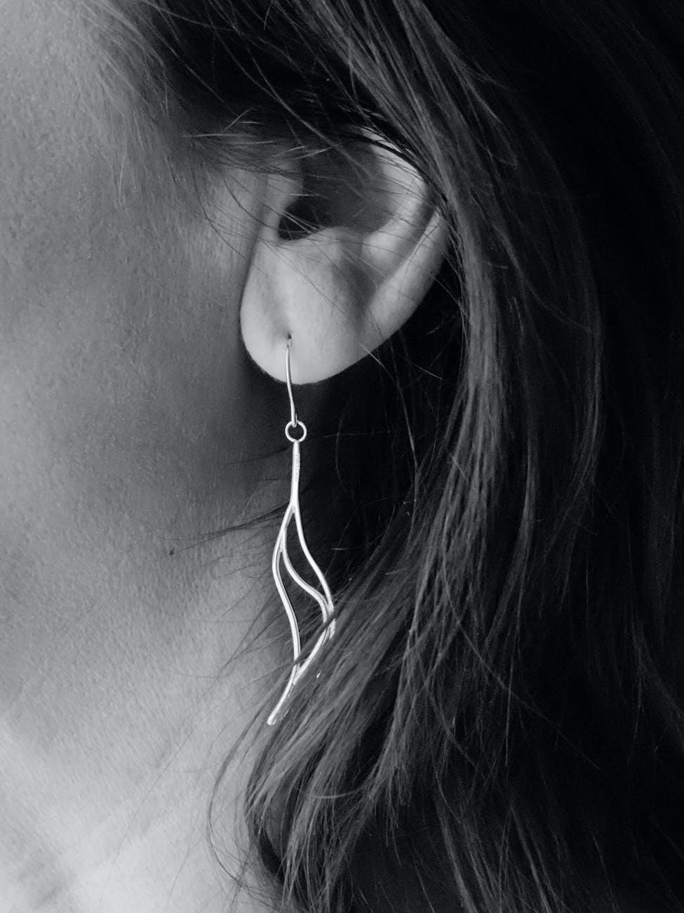 Metal Spiral Earrings