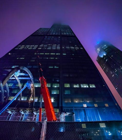 คลังภาพถ่ายฟรี ของ การถ่ายภาพกลางคืน, การถ่ายภาพในเมือง, ชิคาโก, ตึกระฟ้า
