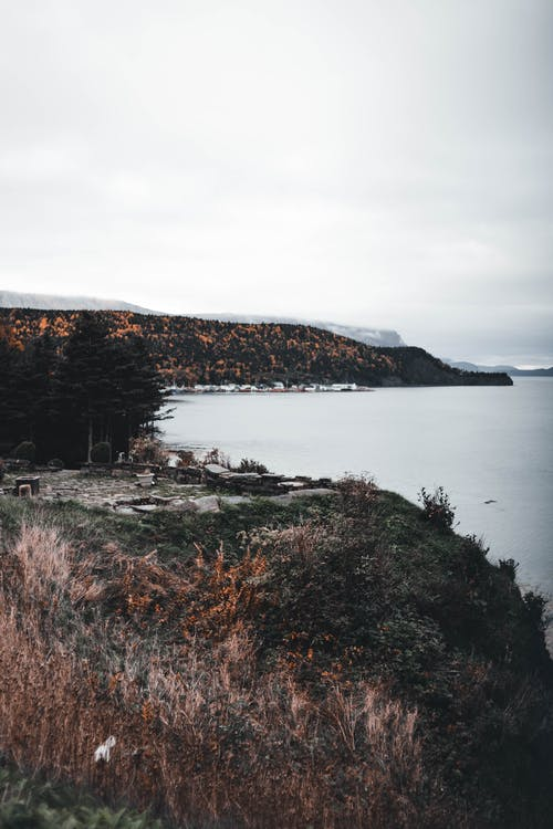Overcast over Lake and Forests around