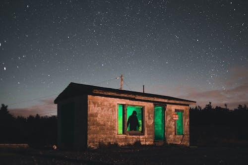 Ảnh lưu trữ miễn phí về căn nhà, đêm, đèn xanh